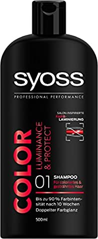 Syoss Shampoo Color Luminance & Protect, 3er Pack (3 x