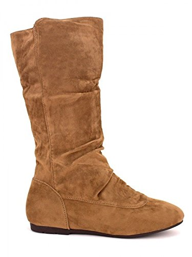 Cendriyon, Botte Simili Peau C'M Camel Chaussures Femme Caramel