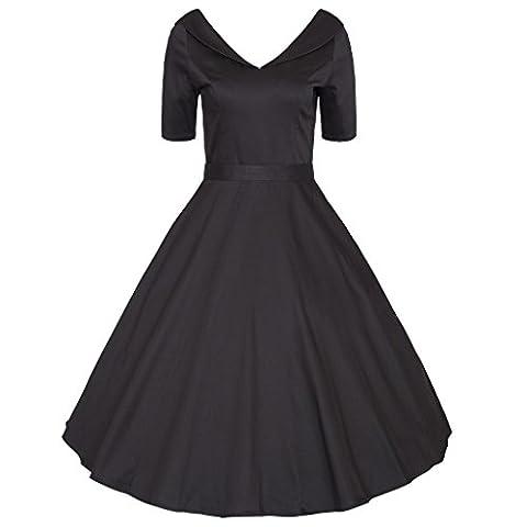 EXLURA - Robe - Boule - Femme - noir - Medium