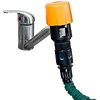 Royal Gardineer Schlauchadapter: Universal-Wasserhahn-Adapter zum Anschluss von Gartenschläuchen (Wasserhahn Aufsatz)