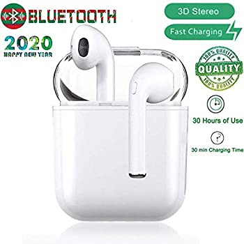Bluetooth Headsets Wireless Headsets 5.0 Headset Bluetooth in-Ear Earphone Wireless Stereo in-Ear Handsfree for Apple Airpods Android//iPhone /…