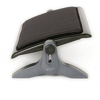 Büromöbel Experte ✔ Fußstütze Gepolstert | Fußauflage für Büro | Ergonomische Fußablage - Schwarz höhenverstellbar & neigbar