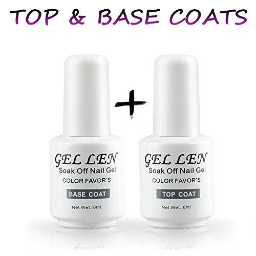 Gellen auflösbarer Base Coat und Top Coat,Unterlack und Überlack UV Gele