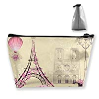 Bike Paris Cosmetic Makeup Bag/Pouch/Clutch Travel Case Organizer Storage Bag for Women¡¯s Accessories Toiletry Beauty,Skincare Travel Accessory