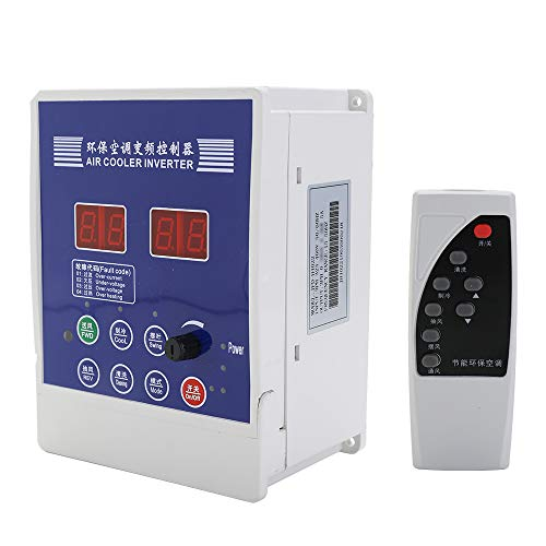 KKmoon Luftkühler Frequenzumrichter, Variabler Motor Zuggebläse Klimaanlage Drehzahlregler Mit Fernbedienung 【AC380V 1.1KW】 -