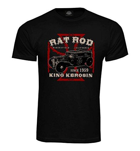 King Kerosin T-Shirt Rat Rod Schwarz