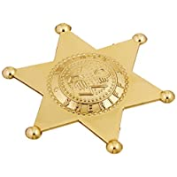 Rhode Island Novelty Plastic Sheriff Badges - Gold & Silver - 12 Pcs.