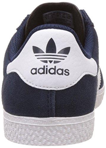 adidas Unisex-Kinder Gazelle 2 Sneakers Blau (Collegiate Navy/Ftwr White/Ftwr White)
