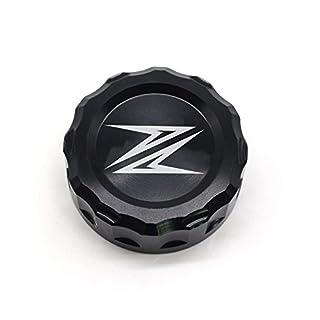Motorrad Hintere Brems Flüssigkeit Sbehälter Kappe für Kawasaki Z900 2016 Kawasaki Z800 2013-2015 Kawasaki Z750 750R Z1000 2009-2016 (Schwarz)