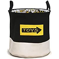 WEHOLY Laundry Basket, Baby Toy Storage Basket Collapsible Cotton Cartoon Kids Baby Boy Laundry Basket Laundry Hamper Nursery Storage Bin Gift Baskets Foldable Organizer for Bedroom Nursery Room