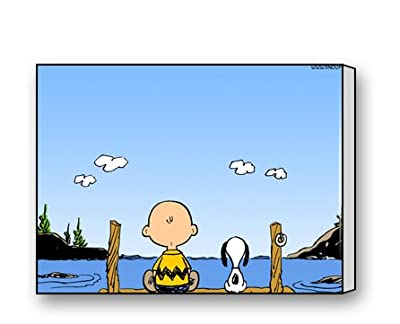 Snoopy And Charlie Brown Canvas Prints for Modern Wall Art for Home Decoration 16 X 12 Inch