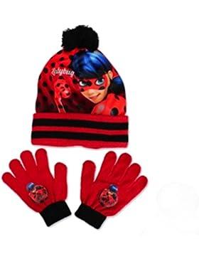 Ladybug Miracolous Set Cappello Pon-pon e guanti