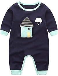 ba7751f84 Minizone Recién Nacido Pijama Bebés Algodón Mameluco Niñas Niños Peleles ...