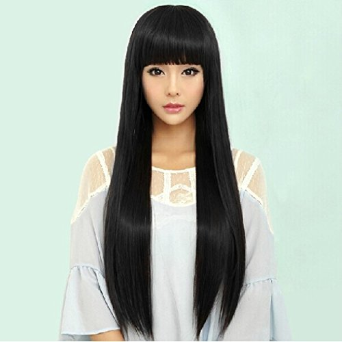 LUFA Long Straight Perücke Hitzebeständige Perücken Straight Hair Perücken Fancy Dress Cosplay Perücken Pop Party Kostüm