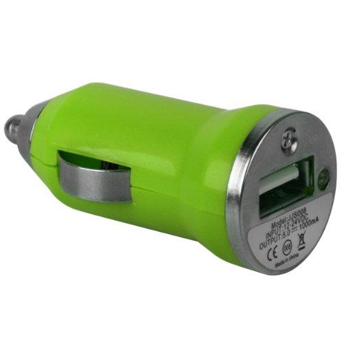 Xylo Kfz Autoladekabel KFZ Ladekabel Ladegerät Reiselader Adapter. Ideal für Lenovo Tab 2A10–70, Tab 325,4cm Tab3Essential 17,8cm Yoga Tab 320,3cm Yoga Tab 3Pro 25,7cm Yoga Buch 25,7cm 2in 1Tablets., grün, Single USB Charger