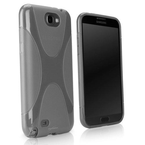 BoxWave Bodysuit Schutzhülle Samsung Galaxy Note 2II-Premium Strukturierte TPU Gel Haut Galaxy Note 2II Fall-Samsung Galaxy Note 2II N7100Fällen und Abdeckungen (Smoke Grau)