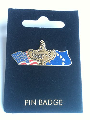 RYDER CUP GOLF PIN BADGE. OFFICIAL RYDER CUP COLLECTION, USA AND EUROPE FLAGS -