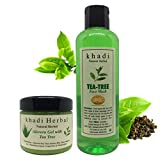 Khadi Herbal Natural Tea Tree Aloe Vera Gel and Foaming Face Wash Combo