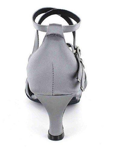 ShangYi Chaussures de danse(Noir / Vert / Rouge / Gris / Autre) -Personnalisables-Talon Personnalisé-Similicuir-Latine Burgundy