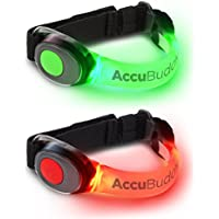 AccuBuddy LED Brazalete – Luz Brillante para Hacer Jogging y luz de Seguridad para Deportes de Exterior