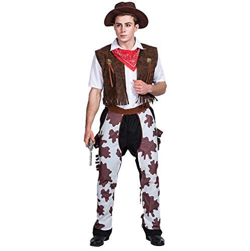 SHANGLY Cowboy Cosplay Halloween Kostüm Männer Erwachsene Urlaub Karnevalsfeier Stage Performance Kleidung,L (Halloween-kostüm-ideen Einzigartige Männer)
