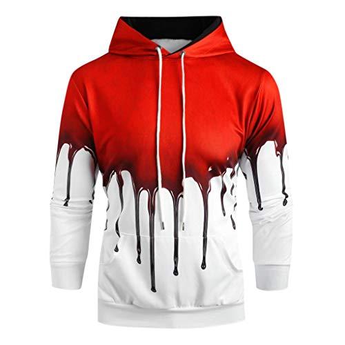 Männer Halloween-Thema Sweatshirts 2019 Neue Frühling Herbst Farbe Hip Hop Streetwear Hoody Mann Kleidung der (Hip Hop Halloween 2019)