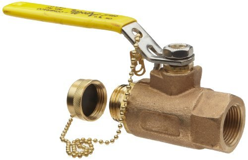 Apollo 70-100-HC Series Bronze Ball Valve, Two Piece, Inline, Lever, 3/4 NPT Female x 3/4 Hose by Apollo Valve - Series Ball Valve