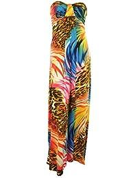 Paige Frauen Bow Knoten Büste Jersey streifen blumen Tier Marmorgestein drucken Boobtube Bandeaukleider Damen Maxi Kleid