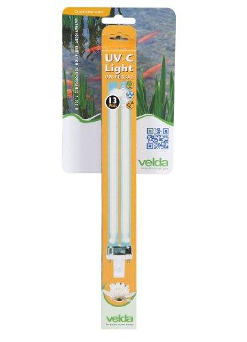 Velda 126623 Ersatz-UV-C Lampe für Elektronische Entferner gegen Grünalgen im Teich, UV-C PL Lampe 13 Watt (Kurzwelliges Uv-licht)