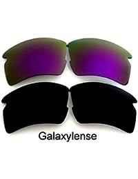 Lentes De Repuesto Para Oakley Flak 2.0 XL Polarizados negro y púrpura 2 Pares
