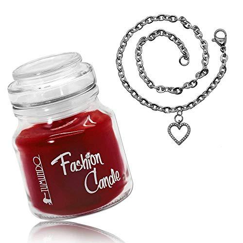 tumundo Schmuck-Kerze Fashion Candle Duftkerze Erdbeere Armband Arm-Kette Damen Herz Kirsche Anker Schneeflocke, Modell:Modell 5 -