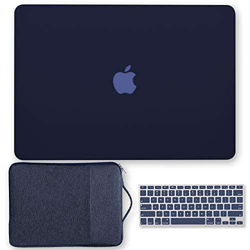 GMYLE MacBook Air 13 Zoll Hülle, Kunststoff Matt Glatt Hard Shell Cover, 13.3 Zoll Schutzhülle, Tastatur Cover für Apple Mac Air 13 A1466 A1369 - Navy Blue Set