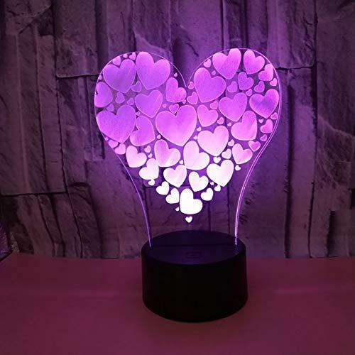 Liebe 3D nachtlicht USB-betrieben 7 Farben Touch LED Schreibtischlampe Geeignet für Familienhotels