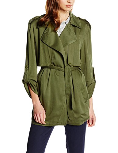 Cortefiel Damen Mantel Trench Fluid grün (GREENS)