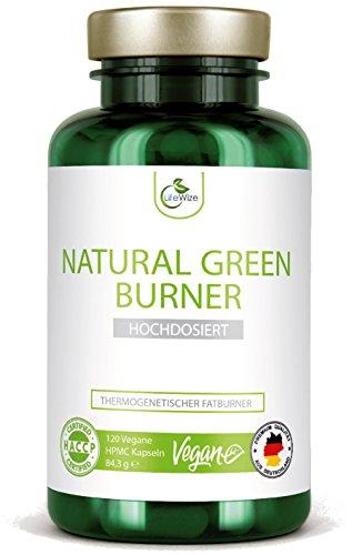 LifeWize® Fatburner Kapseln - Natürlicher Fettverbrenner Zum Abnehmen & Diät -120 Kapseln Hochdosiert - Aus Deutschland, Vegan & Ohne Zusatzstoffe
