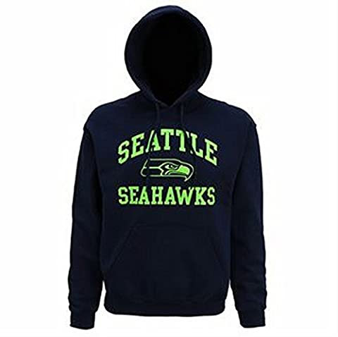 Seattle Seahawks large graphic hoodie (Navy, XL)