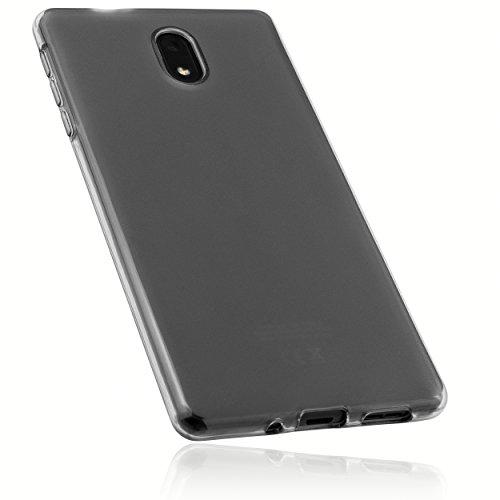 mumbi Schutzhülle für Nokia 3 Hülle transparent schwarz