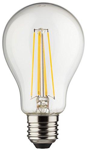 MÜLLER-LICHT 400180 A++, Retro-LED Lampe Birnenform ersetzt 75 W, Glas, 8 W, E27, weiß, 6 x 6 x 10,6 cm [Energieklasse A++]