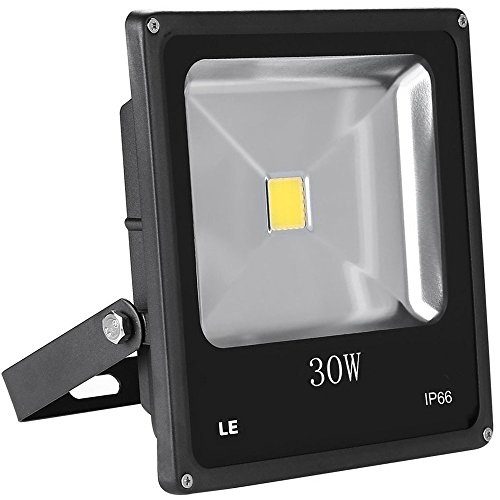 LE Projecteur Extérieur LED 30W 2250lm Equivalent à Lampe Sodium de 75W Imperméable IP66 Lumière du Jour 6000K Eclairage de Sécurité pour Chantier Terrasse Mur Jardin Ardre Piscine Entrée Garage