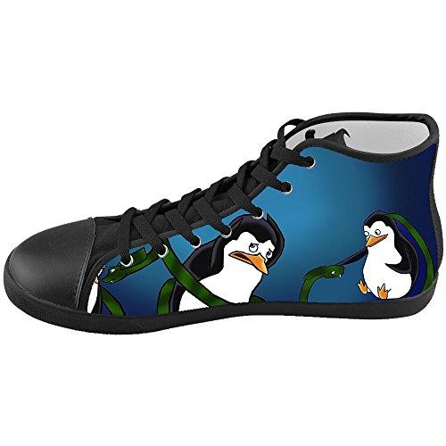 Dalliy pinguin Men's Canvas shoes Schuhe Lace-up High-top Footwear Sneakers D