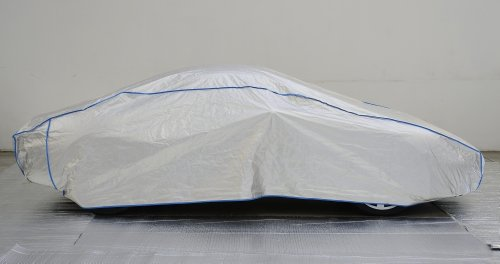 Autoabdeckung Vollgarage Ganzgarage car cover Audi TT Coupé ab 2006 in silber exclusive aus Tyvek mit Lagerbeutel Lagerbeutel
