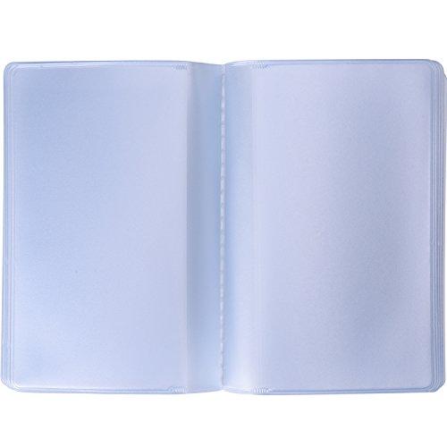 2 Pièces Pochette de Carte en Plastique Porte-Cartes de Crédit avec 10 Pages 10 Emplacements et 10 Pages 20...
