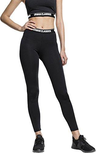 Urban Classics TB1661 Damen Ladies Sports Leggings Mehrfarbig (Black 825), 48(Herstellergröße: S)