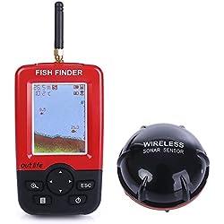 JVSISM Buscador de pez de Profundidad portatil Inteligente con Sensor de sonda ecosonda Buscador de pez para la Pesca en el mar Lago