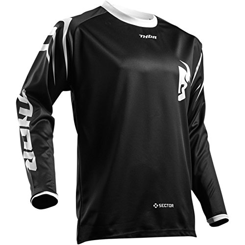 Thor Sector Zones Motocross Jersey Shirt Trikot Offroad Enduro Cross Schwarz S M L XL 2XL 3XL (XL)