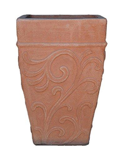 Crétoise traditionnel fait à la main en terre cuite pot – avec motif en relief – 48 \\