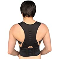 Rückenbandage Rückenhalter Haltungskorrektur Geradehalter Rücken Stabilisator (Schwarz) preisvergleich bei billige-tabletten.eu