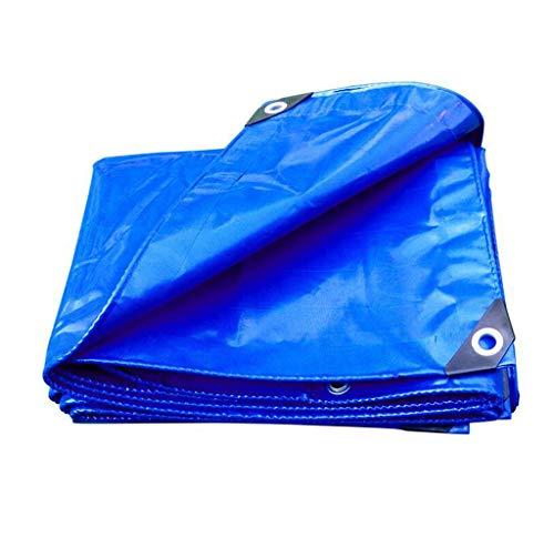 HongTeng Lona versátil Prueba Lluvia PVC Azul Ojales