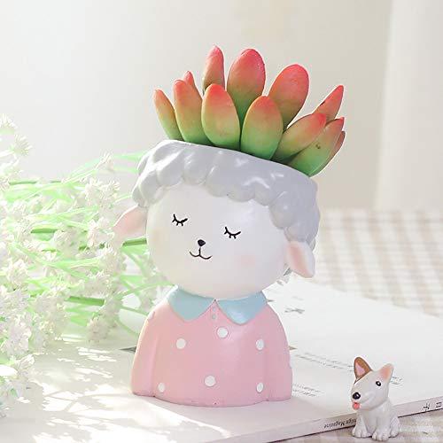 ToDIDAF Netter Blumentopf Cartoon Tier Vase Behälter für Succulent Planter Blumen Bonsai Pflanzen Zuhause Garten Büro Desktop Dekoration (A) -