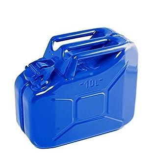 10 Litre Blue Jerry Can for Fuel Petrol Diesel etc - Compact Design